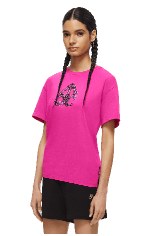 Psychedelic Logo Tee M11LT731 Knockout Pink Front