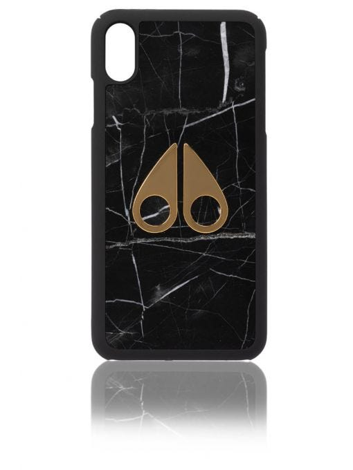 GENUINE MARBLE 24K GOLD LOGO IPHONE CASE