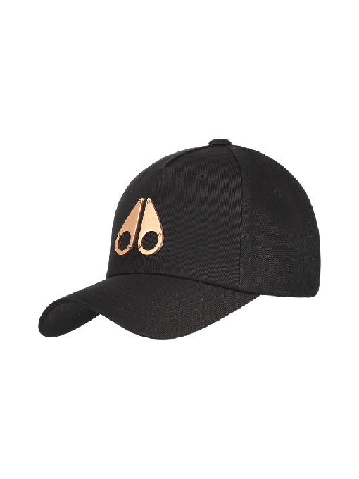 ROSE GOLD METAL LOGO CAP