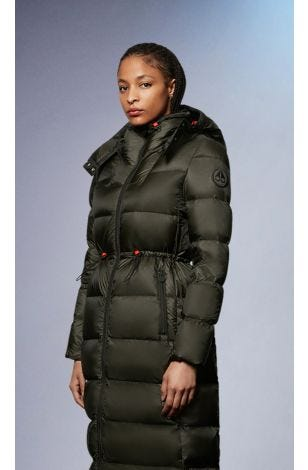 Belle Cote Parka M31LP240 Military Green Small