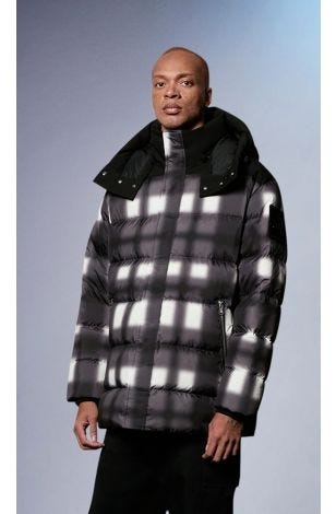 Dingwell Jacket M31MJ168H Snow White / Black Fox Fur Front Category