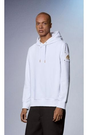 Foxley Hoodie M31MS626G White Front Category
