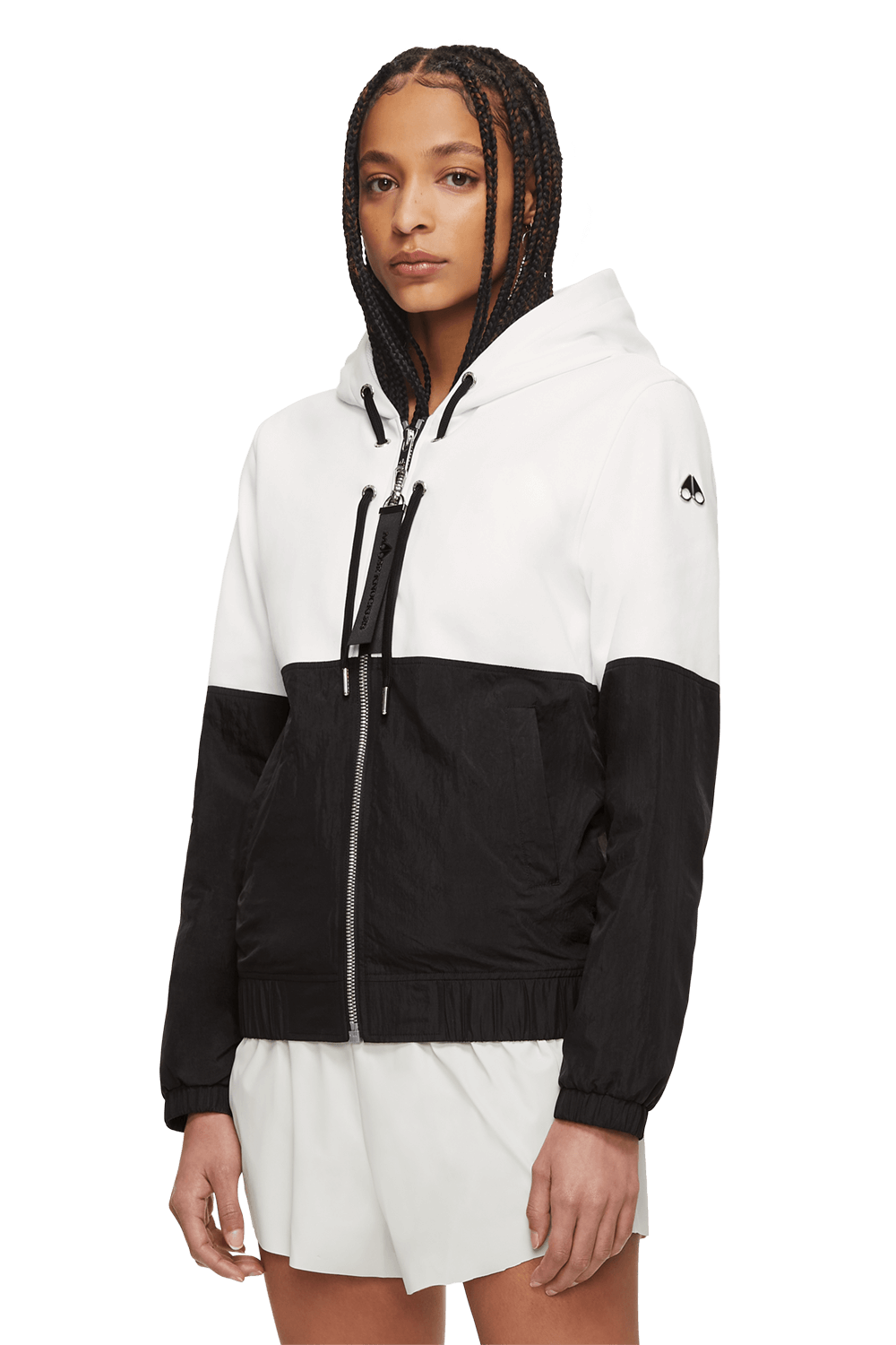 Travoltas Zip Up M11LS619 Black / White Front