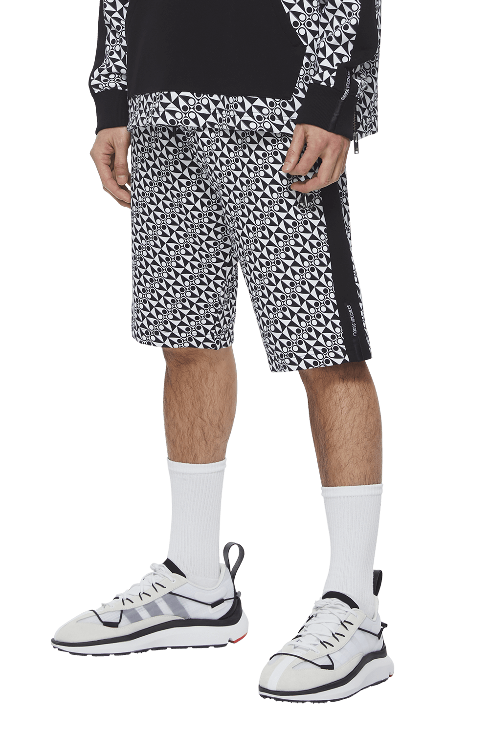 Click Shorts M11MR758H Black Checkered Print Front