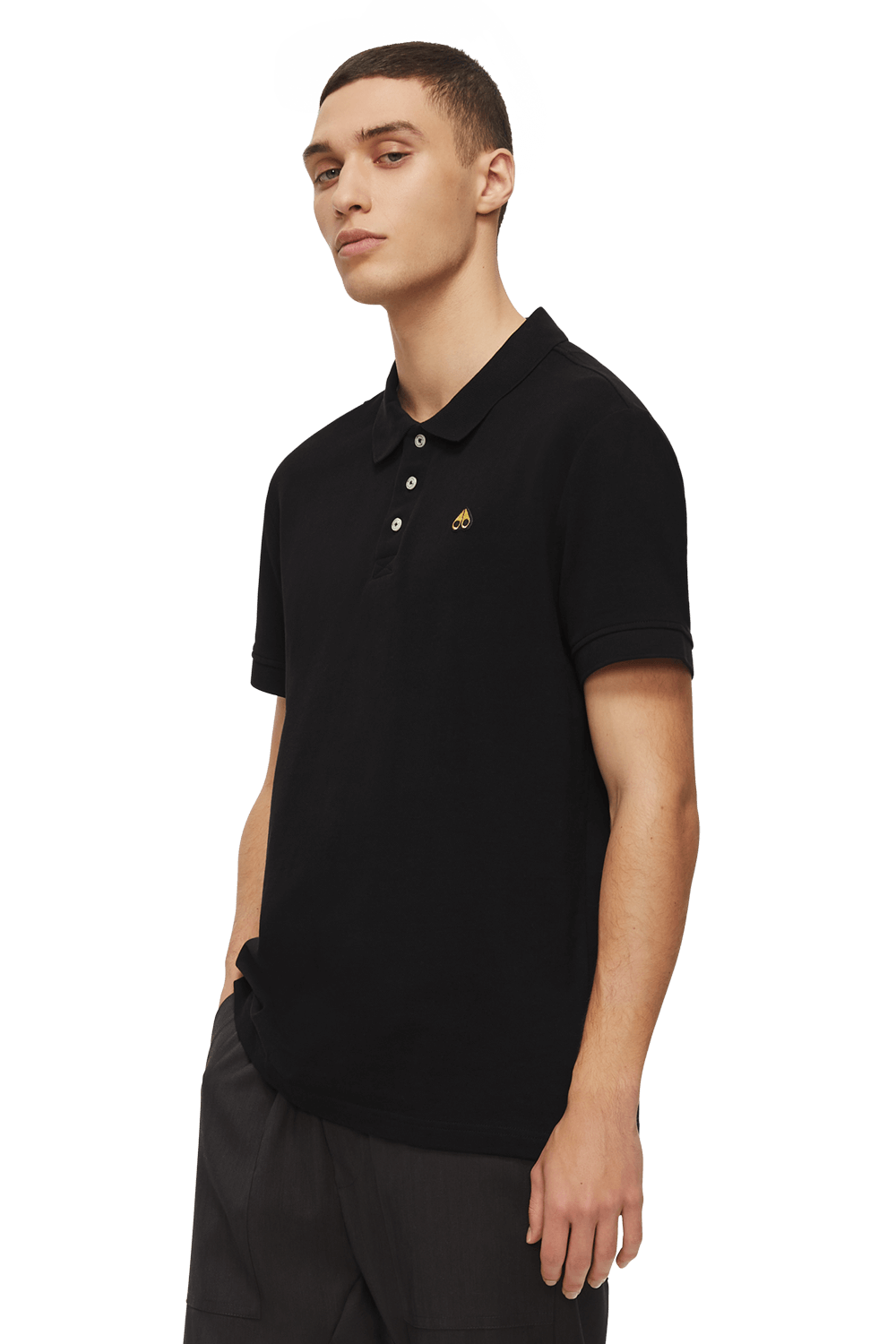 Gold Polo Shirt M11MT712G Black Front