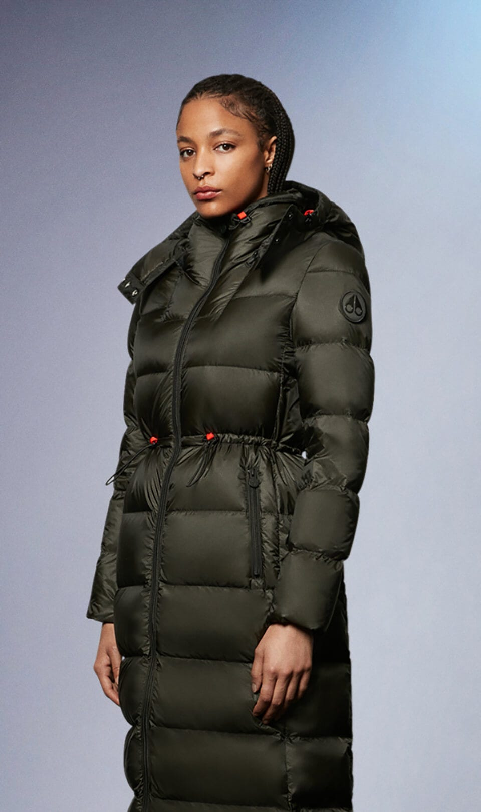 Belle Cote Parka M31LP240 Military Green Front Category