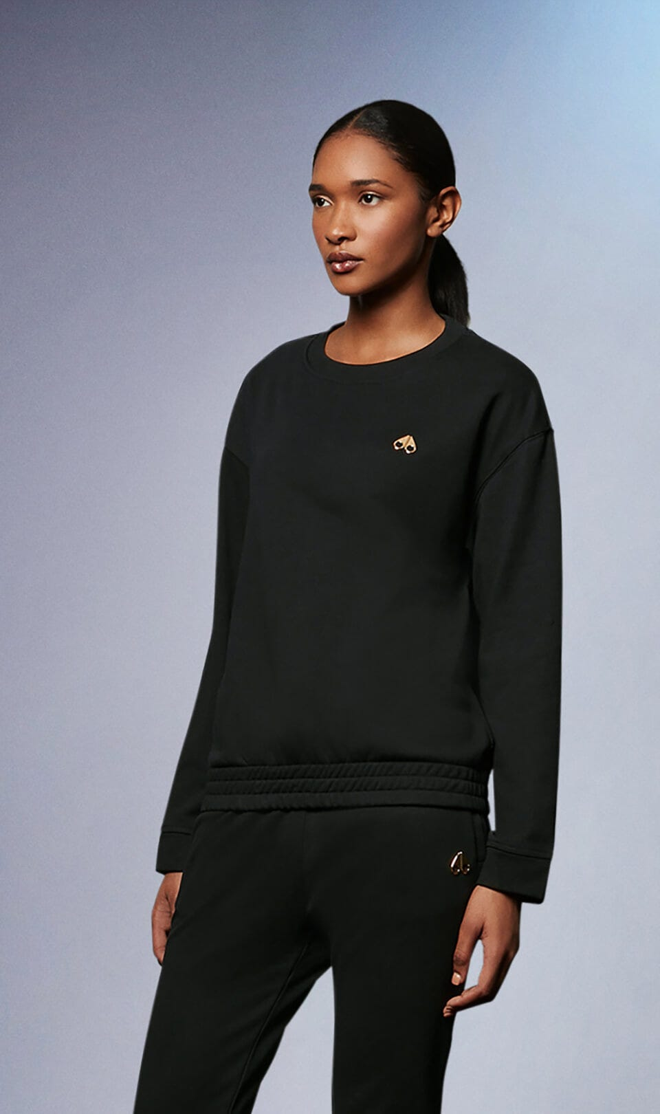 Sahtaneh Pullover M31LS628G Black Front Category