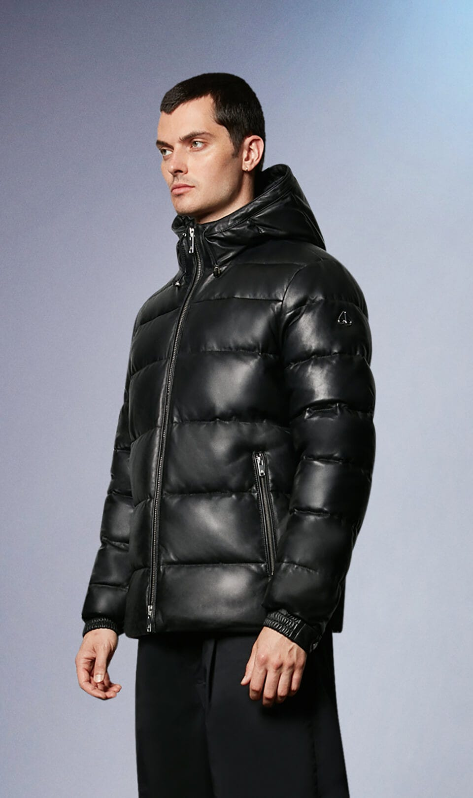 Keg River Leather Puffer M31ML306 Black Front Category