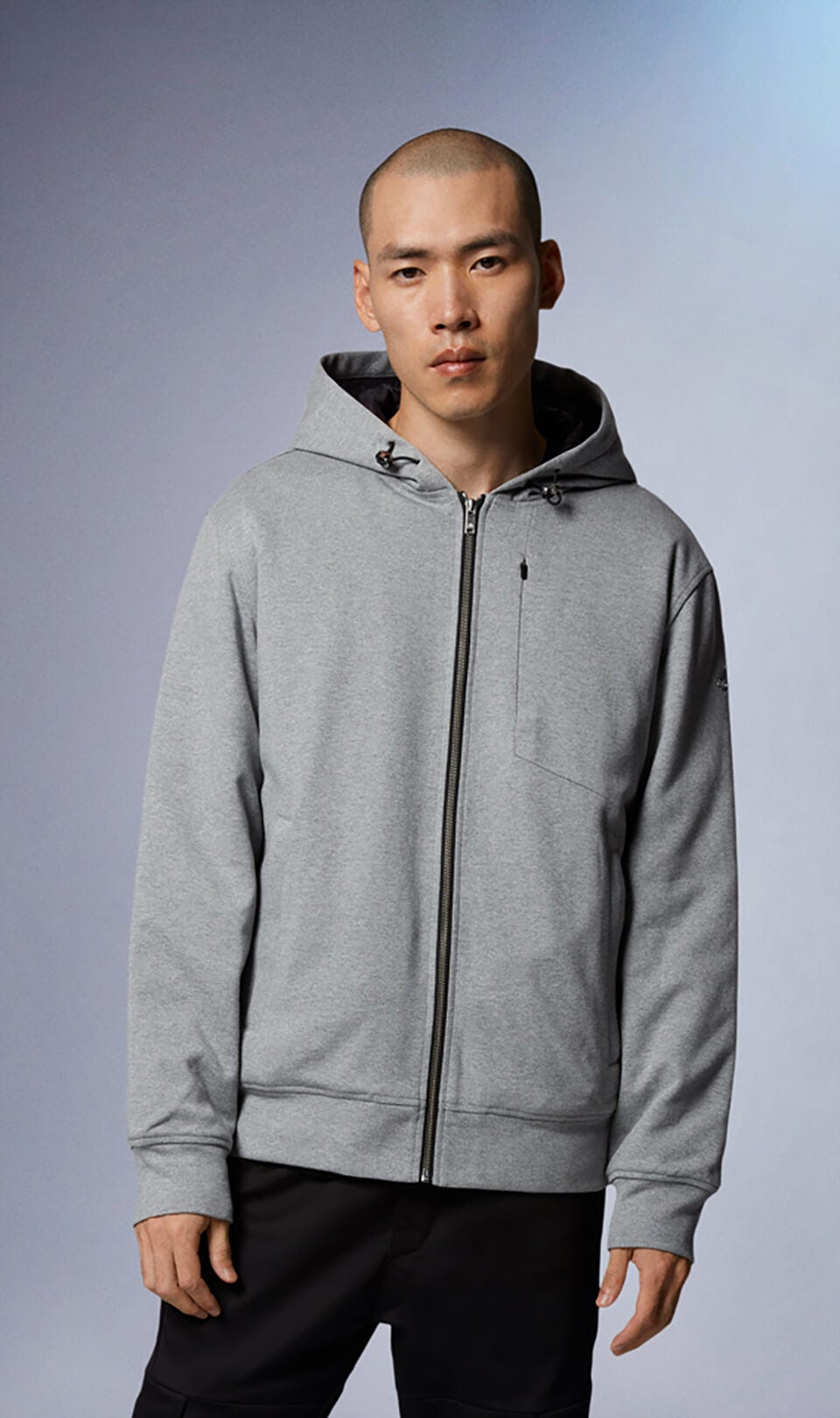 Chilloyneys Hoodie M31MS606 Charcoal Melange Front Category