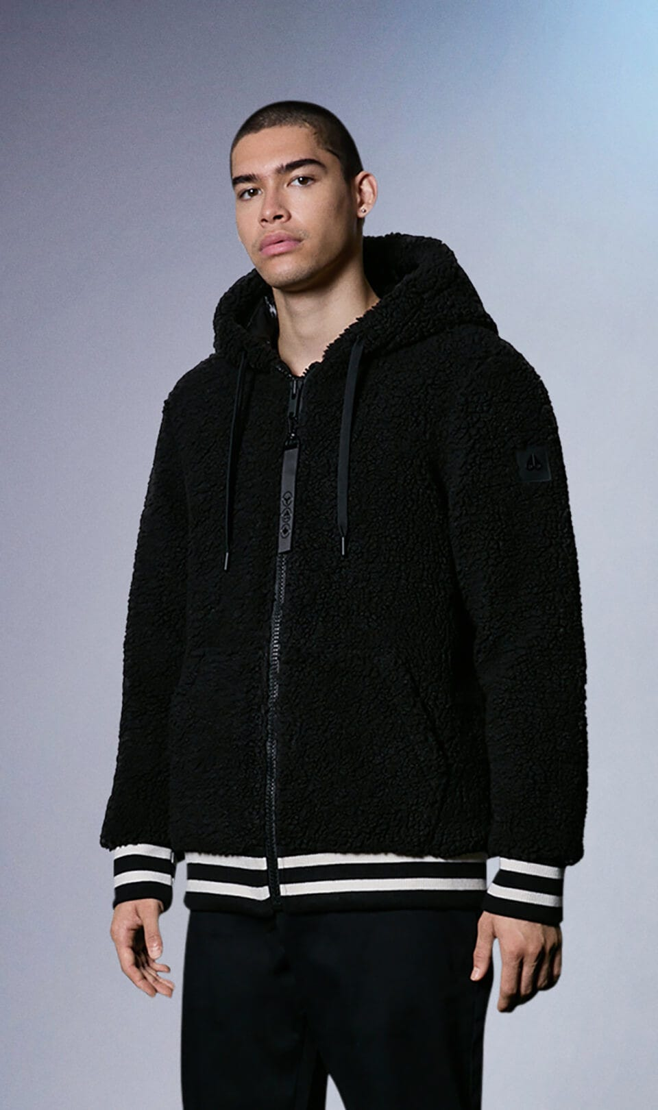 Dewson Hoodie M31MS667 Black Front Category