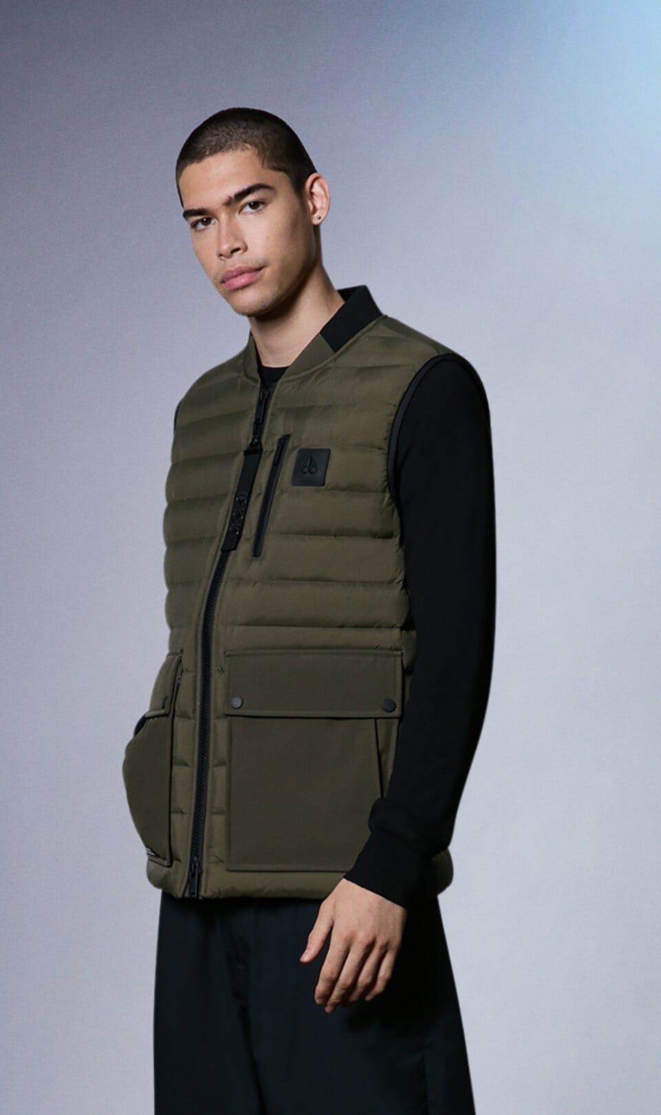 Sheep Creek Vest M31MV452 Military Green Front Category