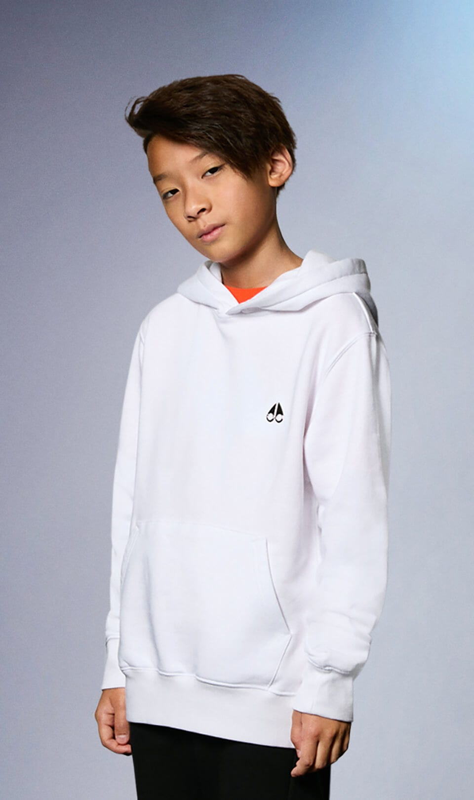 Minipi Hoodie M31US656 White Front Category