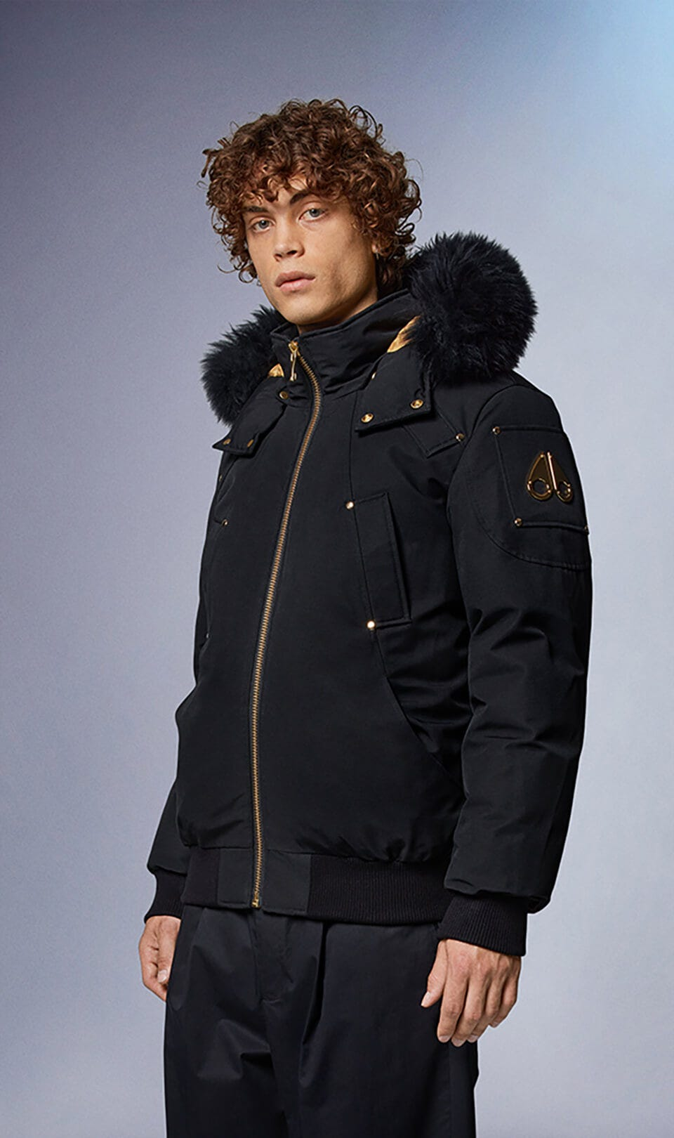 Little Rapids Bomber M39MB000GS Black / Black Shearling Front Category